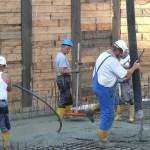 Juli 2014: Herstellung der Bodenplatte