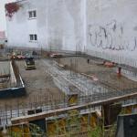 Oktober 2014: Rohbauarbeiten im Erdgeschoss sind beendet