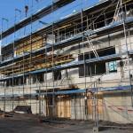 Februar 2015: Die Bauarbeiten am Rohbau gehen gut voran
